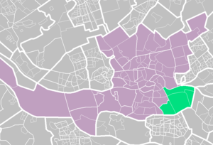 IJsselmonde, Rotterdam - IJsselmonde (light green) within Rotterdam (purple).