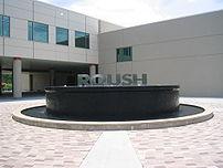 Outside Roush headquarters.