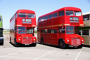 Routemasters RM1397 (397 CLT) & RM737 (WLT 737), 2010 North Weald bus rally.jpg