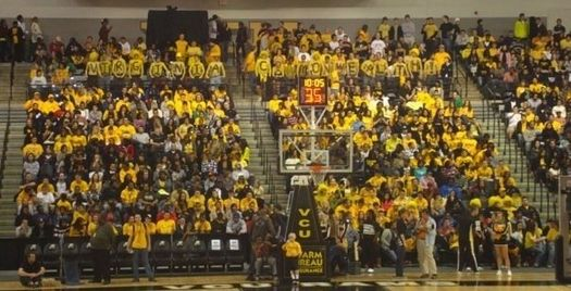 "Rowdy Rams (far back) spelling out ""VIRGINIA COMMONWEALTH!"" Rowdy Rams.jpg"