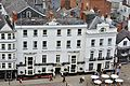 Royal Clarence Hotel, Exeter closeup from Cathedral north tower 2010.jpg