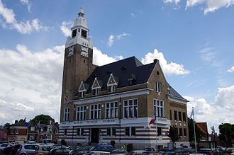Roye, Somme - The town hall in Roye