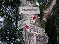 Rozcestník Štamberk, Klánovický les.jpg