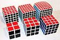 Rubik's cube, variations 2×2×2 - 7×7×7.jpg