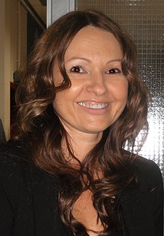 Anja Rupel Slovenian pop singer, songwriter, radio announcer, and journalist