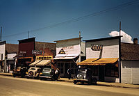 Russell Lee, On main street of Cascade, Idaho, 1941.jpg