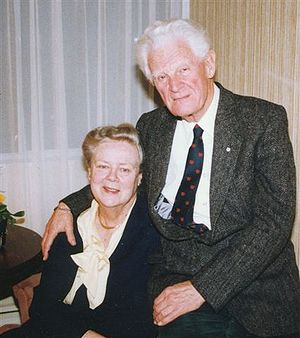 George Stanley - George and Ruth Stanley at home 1997
