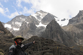 English: The Rwenzori mountains also called th...