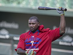 Photograph of Ryan Howard, Phillies' first baseman from 2004 to 2016