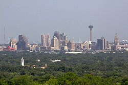 Skyline of San Antonio and the Tower of the Americas