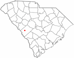 Location of Aiken, South Carolina