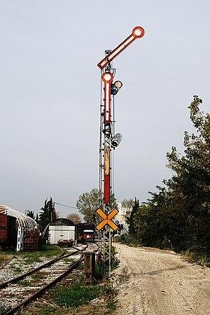 Greek railway signalling - Old style semaphore main signal