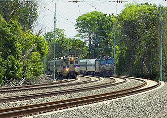 "Paoli/Thorndale Line - SEPTA and Amtrak share the four track ""Main Line"" grade of the ""Keystone Corridor"" between Philadelphia and Thorndale"