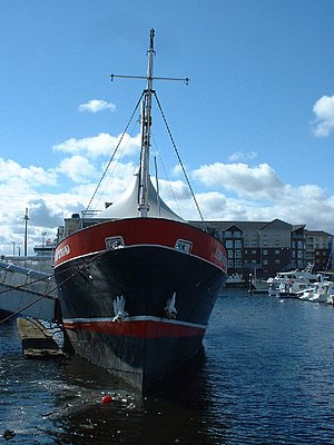 North of Scotland, Orkney & Shetland Steam Navigation Company - The former Shetland – Orkney ferry Earl of Zetland, now a floating restaurant