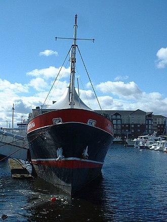 North of Scotland, Orkney & Shetland Steam Navigation Company - The former Shetland – Orkney ferry Earl of Zetland, now a floating restaurant