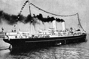 SS Kościuszko entering the port of Gdynia