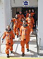 STS-125 Crew Members Head for Launch Pad 39A (28240992745).jpg