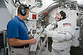 STS-130 Training Nicholas Patrick spacesuit fit check.jpg