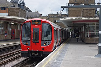 Harrow, London - A Tube train at Harrow-on-the-Hill station