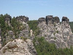 Elbe Sandstone Mountains - Crags near Rathen