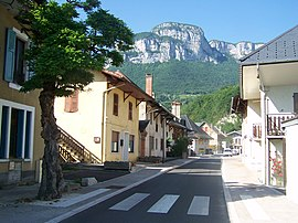 A street in Saint-Alban-Leysse