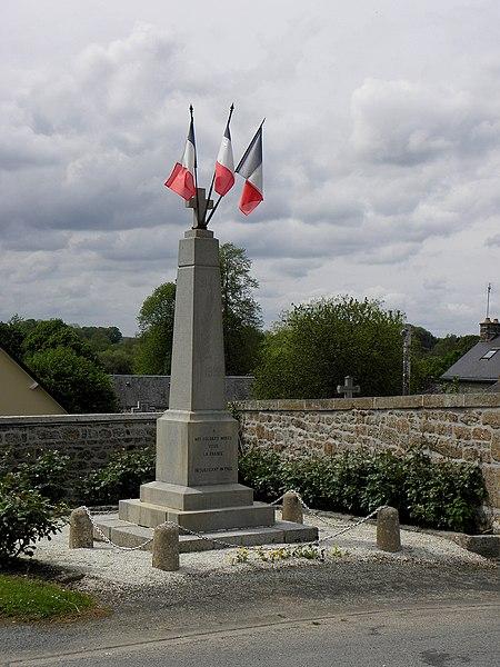 Monument aux morts de Saint-Aubin-Fosse-Louvain (53).