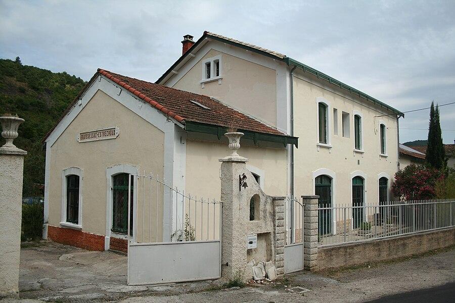 Saint-Étienne-Estréchoux (Hérault) - ancienne gare de Graissessac-Estréchoux.