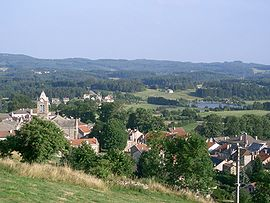 A general view of Saint-Agrève