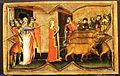 Saint Lucy and Her Mother at the Shrine of Saint Agatha; Saint Lucy Giving Alms; Saint Lucy before Paschasius; Saint Lucy Resisting Efforts to Move Her MET EP288.jpg