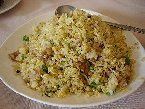 Cantonese salted fish - Chicken and salted fish fried rice