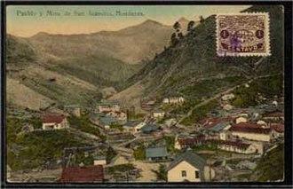 """San Juancito, Honduras - San Juancito's """"Barrio El Centro"""" in the 1920s"""