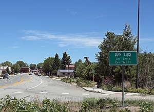 San Luis, Colorado - Entering San Luis from the west
