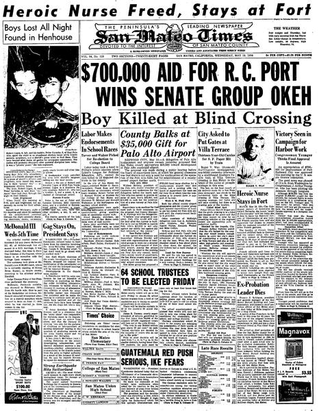 File:San Mateo Times May 19, 1954 page 1.pdf