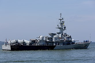 Laksamana-class corvette - Laksamana Muhammed Amin performing security duties in the Eastern Sabah Security Zone.