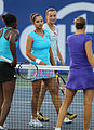 Sania Mirza and Yaroslava Shvedova and Stephens and Peer (5992565321).jpg