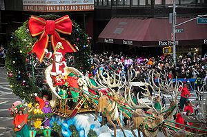 Macy's Thanksgiving Day Parade - Santa Claus' arrival at the parade's finale marks the start of the Christmas season.