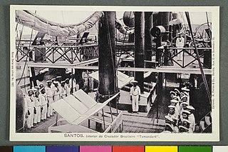 Santos. Interior do Cruzador Brazileiro Tamandaré