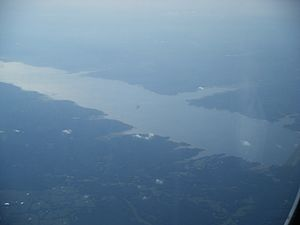 Sardis Lake (Mississippi) - Aerial view of Sardis Lake
