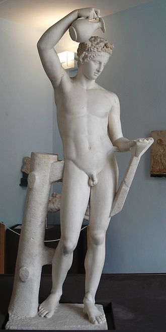 Torre del Greco - Satyr of Praxiteles (370-60 BC), Roman copy from the Villa Sora, Palermo museum