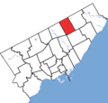 Scarborough-Agincourt in relation to the other Toronto ridings (2015 boundaries).png