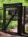 Schleuse Eingang begehbare Voliere Fasanen Wildpark Klein-Auheim.JPG
