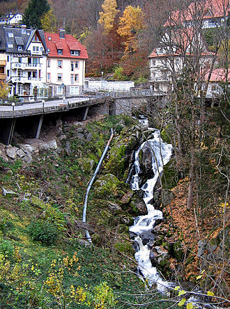 Triberg Waterfalls - The small waterfall of the Schonach (tributary of the Gutach) in Triberg