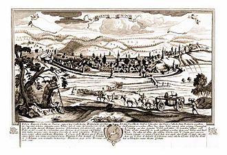 Schwäbisch Gmünd - Panorama of Schwäbisch Gmünd, c. 1750
