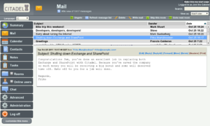 Citadel/UX -  Screenshot of citadel groupware 2011