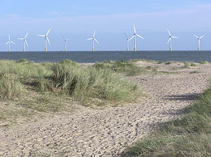 Scroby Sands Wind Farm - Image: Scrobysands 04.11.2005.b