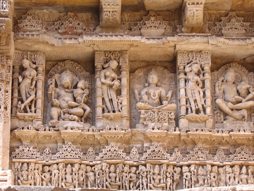 Sculptures inside rani ki vav.JPG