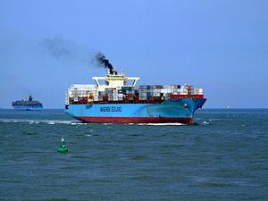 Sealand New York p16 approaching Port of Rotterdam, Holland 08-Jul-2007.jpg