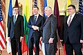Secretary Tillerson Shakes Hands With Latvian Foreign Minister Rinkevics (33661247996).jpg