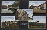 Seeburg, Ostpreußen - Mühlendamm; Markt; Gambrinushalle (Zeno Ansichtskarten).jpg