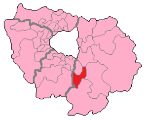 Seine-et-Marne's 1st constituency - Seine-et-Marne's 1st Constituency shown within Île-de-France.
